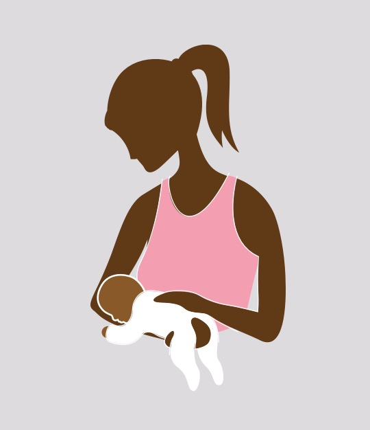 Try using the reverse football hold to comfort a baby with gas.