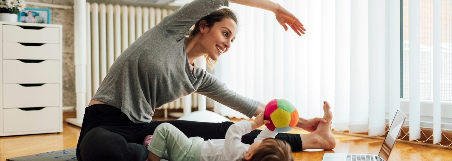 Eating right and exercising are key to making sure mom is healthy and happy.